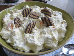Fudge Stripe Cookie Salad Recipe