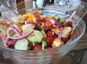 greek-style panzanella salad Recipe