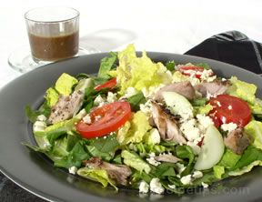 Mackerel Salad and Mustard Balsamic Dressing