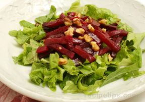 Microwave Roasted Beet Salad