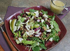Mixed Greens with Nuts and Fruit Recipe