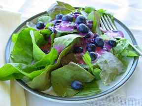 Mixed Greens Salad with Blueberry Vinaigrette