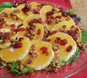 Orange Walnut and Cranberry Salad