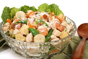 Oriental Fruit Salad with Chicken