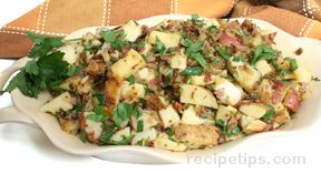grilled potato and proscuitto salad Recipe