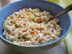 pasta salad with red peppers Recipe