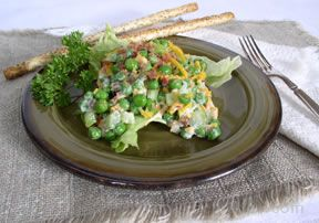 Pea and Cheese Salad Recipe