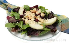 Pears Cranberries and Mixed Greens Salad