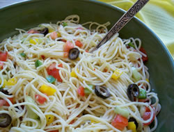 ranch spaghetti salad Recipe