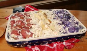 red white and blue potato salad Recipe