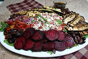 Salad with Grilled Vegetables and Balsamic Vinegarette Recipe