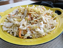 sesame almond cole slaw Recipe