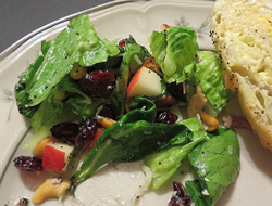 Spinach and Fruit Lettuce Salad Recipe