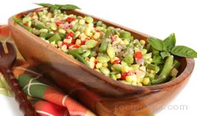 Succotash Salad with Orange Vinaigrette Recipe