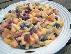 Summer Fruit Pasta Salad Recipe
