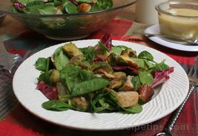 Sweet Bread Panzanella Salad Recipe