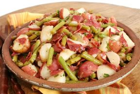 Green Bean and Bacon Potato Salad