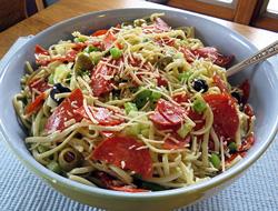 Texas Linguine Pasta Salad