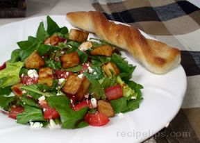 Salad Greens with Tofu Recipe