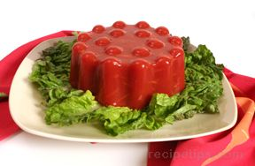 Tomato and Carrot Aspic Salad