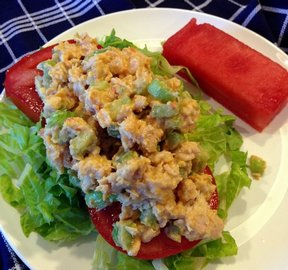 Tuna Salad with Hummus Recipe