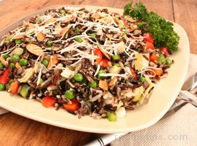 easy wild rice and vegetable salad Recipe