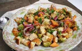 Panzanella Salad with Winter Vegetables