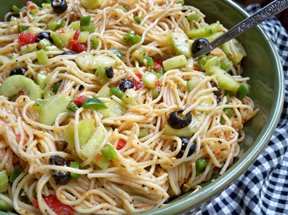 zesty spaghetti salad Recipe