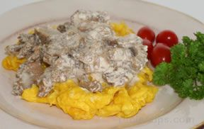 Morels in Cream Sauce