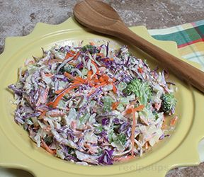 Broccoli Cabbage Slaw with Chipotle Mayo