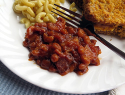 easy baked beans with bacon Recipe