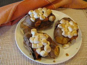 honey butter baked sweet potatoes Recipe