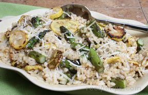 Risotto with Grilled Vegetables Recipe