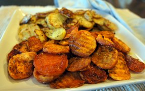 roasted potatoes  sweet potatoes Recipe