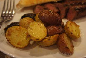 steamed and roasted baby red potatoes Recipe