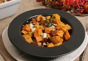 Sweet Potatoes with Pecans and Blue Cheese Recipe