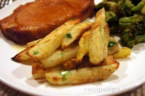 herbed sweet potato fries Recipe