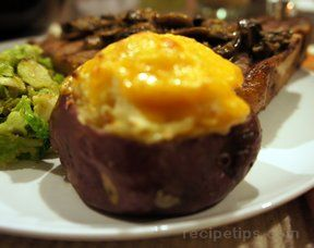 Twice Baked Potatoes with Cheese