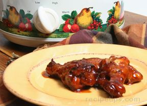 Slow Cooker Barbecued Chicken Drummies