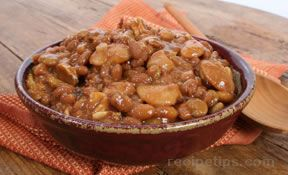 Slow Cooked Baked Beans For A Crowd