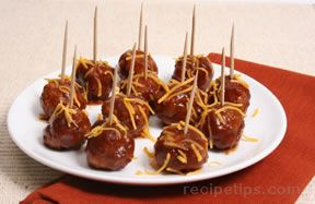 easy barbecued meatballs Recipe