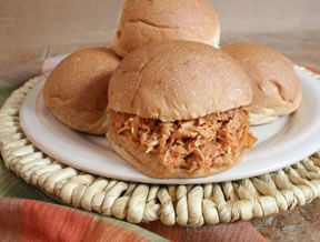 Slow Cooked Shredded Barbecued Chicken
