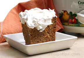 slow cooker carrot cake Recipe