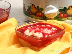 Slow Cooker Rice Pudding with Raspberry Sauce