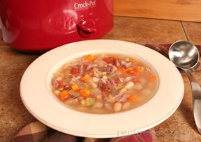 slow cooker white bean and ham soup Recipe