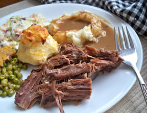 slow cooker beef roast and gravy Recipe
