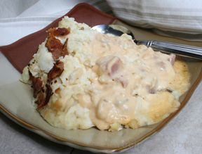 Slow Cooker Cheesy Ham and Potatoes