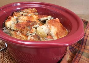 Chicken and Vegetables Slow Cooked