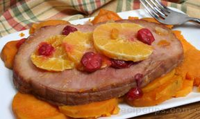 Slow Cooker Ham and Sweet Potatoes