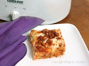 Cheesy Slow Cooker Lasagna Recipe